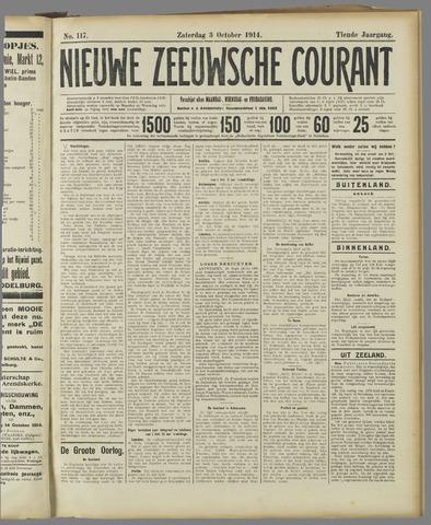 Nieuwe Zeeuwsche Courant 1914-10-03