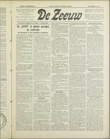 De Zeeuw. Christelijk-historisch nieuwsblad voor Zeeland 1934-12-21