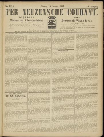 Ter Neuzensche Courant. Algemeen Nieuws- en Advertentieblad voor Zeeuwsch-Vlaanderen / Neuzensche Courant ... (idem) / (Algemeen) nieuws en advertentieblad voor Zeeuwsch-Vlaanderen 1895-10-15