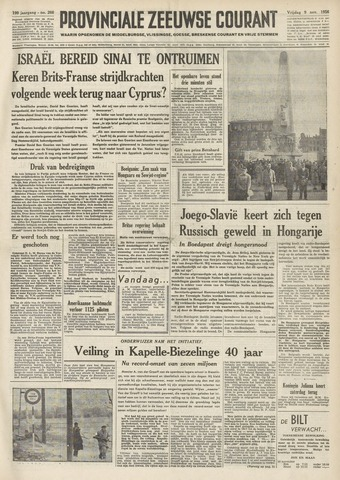 Provinciale Zeeuwse Courant 1956-11-09