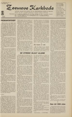 Zeeuwsche kerkbode, weekblad gewijd aan de belangen der gereformeerde kerken/ Zeeuwsch kerkblad 1963-10-04