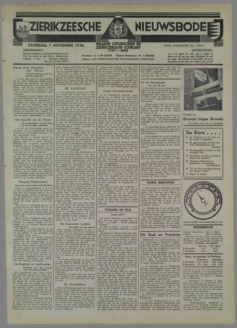 Zierikzeesche Nieuwsbode 1936-11-07