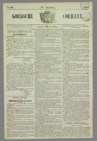 Goessche Courant 1855-11-26