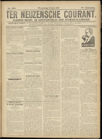 Ter Neuzensche Courant. Algemeen Nieuws- en Advertentieblad voor Zeeuwsch-Vlaanderen / Neuzensche Courant ... (idem) / (Algemeen) nieuws en advertentieblad voor Zeeuwsch-Vlaanderen 1927-07-13