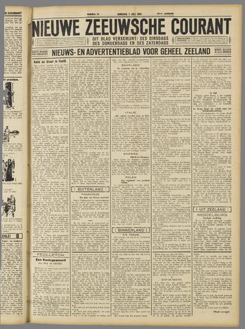 Nieuwe Zeeuwsche Courant 1931-07-07