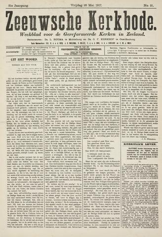 Zeeuwsche kerkbode, weekblad gewijd aan de belangen der gereformeerde kerken/ Zeeuwsch kerkblad 1917-05-25