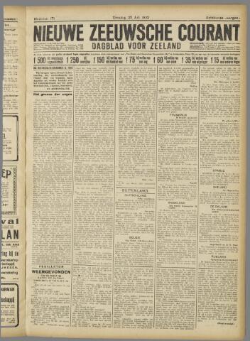 Nieuwe Zeeuwsche Courant 1922-07-25