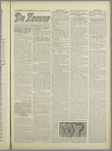 De Zeeuw. Christelijk-historisch nieuwsblad voor Zeeland 1943-09-09