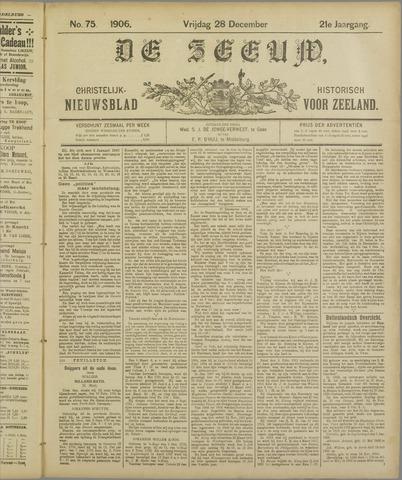 De Zeeuw. Christelijk-historisch nieuwsblad voor Zeeland 1906-12-28