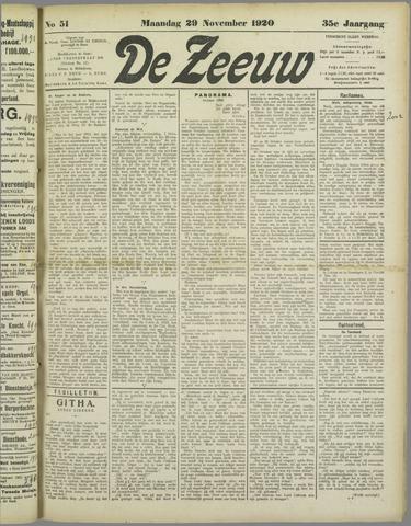 De Zeeuw. Christelijk-historisch nieuwsblad voor Zeeland 1920-11-29