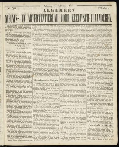 Ter Neuzensche Courant. Algemeen Nieuws- en Advertentieblad voor Zeeuwsch-Vlaanderen / Neuzensche Courant ... (idem) / (Algemeen) nieuws en advertentieblad voor Zeeuwsch-Vlaanderen 1872-02-10