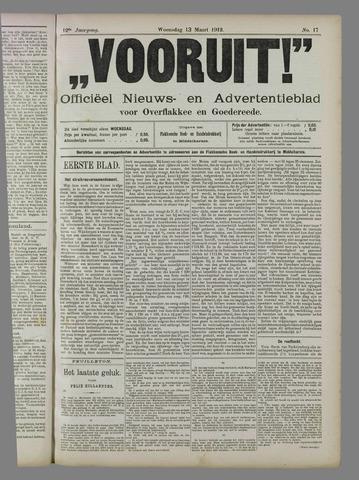 """""""Vooruit!""""Officieel Nieuws- en Advertentieblad voor Overflakkee en Goedereede 1912-03-13"""