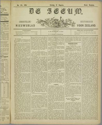 De Zeeuw. Christelijk-historisch nieuwsblad voor Zeeland 1896-08-15