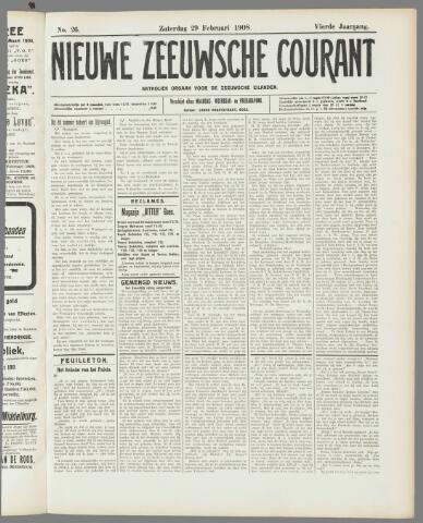 Nieuwe Zeeuwsche Courant 1908-02-29