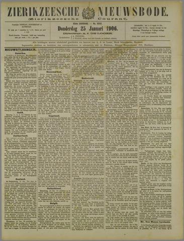 Zierikzeesche Nieuwsbode 1906-01-25
