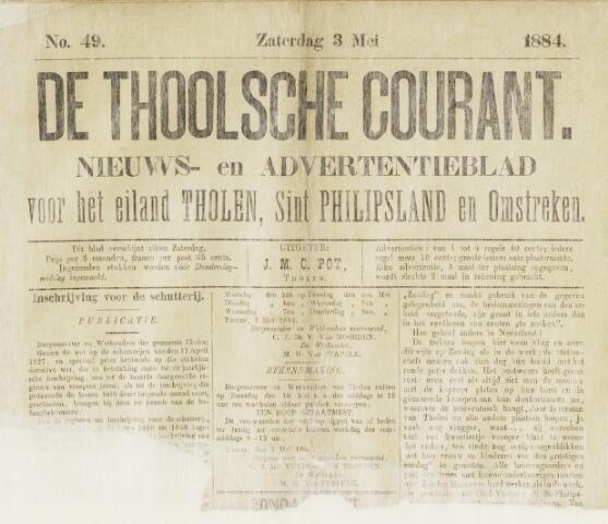 Ierseksche en Thoolsche Courant 1884-05-03