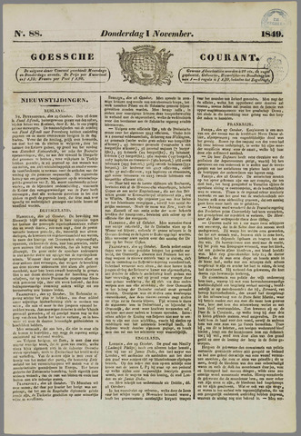 Goessche Courant 1849-11-01