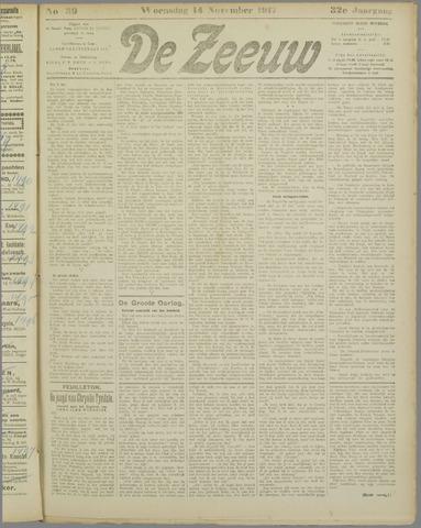 De Zeeuw. Christelijk-historisch nieuwsblad voor Zeeland 1917-11-14