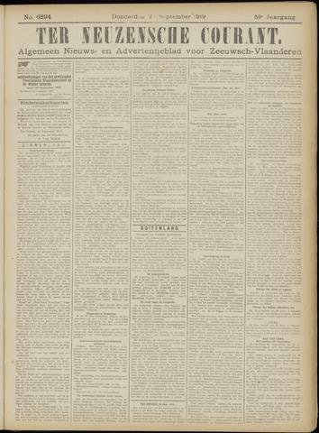 Ter Neuzensche Courant. Algemeen Nieuws- en Advertentieblad voor Zeeuwsch-Vlaanderen / Neuzensche Courant ... (idem) / (Algemeen) nieuws en advertentieblad voor Zeeuwsch-Vlaanderen 1919-09-25