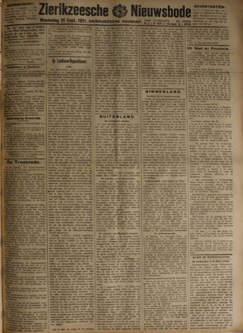 Zierikzeesche Nieuwsbode 1921-09-21