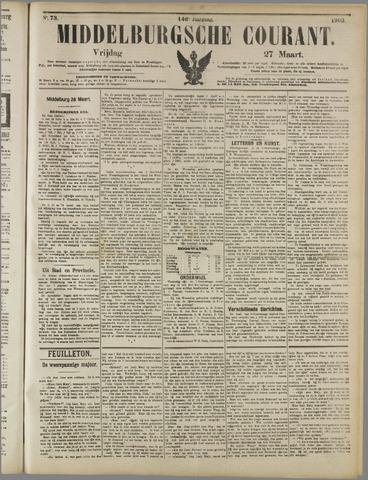 Middelburgsche Courant 1903-03-27