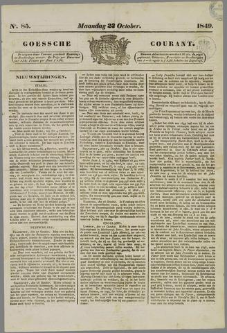 Goessche Courant 1849-10-22