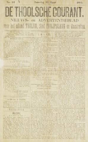 Ierseksche en Thoolsche Courant 1885-03-14