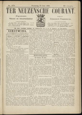 Ter Neuzensche Courant. Algemeen Nieuws- en Advertentieblad voor Zeeuwsch-Vlaanderen / Neuzensche Courant ... (idem) / (Algemeen) nieuws en advertentieblad voor Zeeuwsch-Vlaanderen 1880-06-30