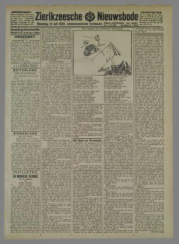 Zierikzeesche Nieuwsbode 1933-07-31