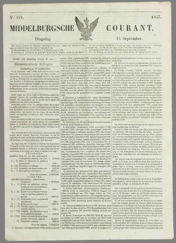 Middelburgsche Courant 1857-09-15