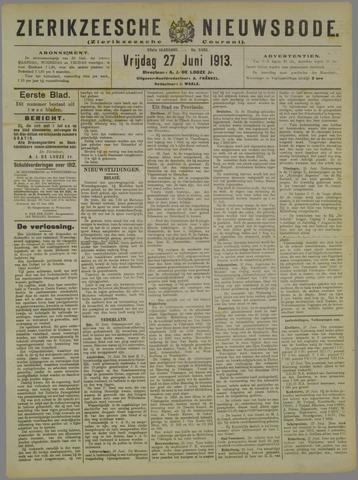 Zierikzeesche Nieuwsbode 1913-06-27