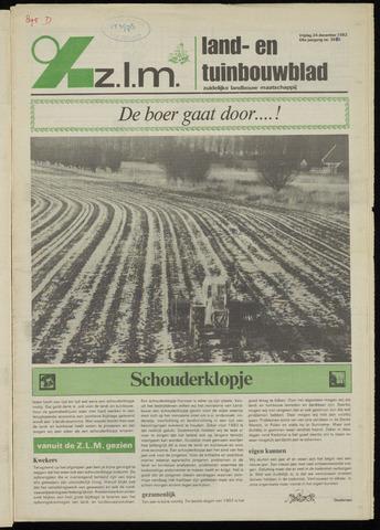 Zeeuwsch landbouwblad ... ZLM land- en tuinbouwblad 1982-12-24
