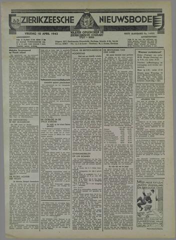 Zierikzeesche Nieuwsbode 1942-04-10