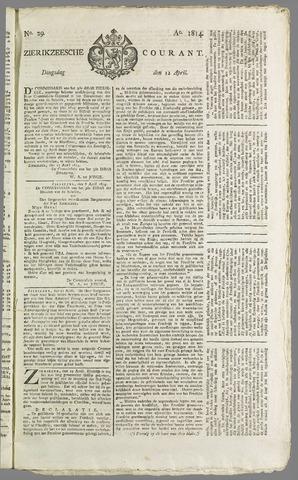 Zierikzeesche Courant 1814-04-12