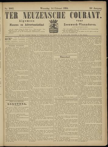 Ter Neuzensche Courant. Algemeen Nieuws- en Advertentieblad voor Zeeuwsch-Vlaanderen / Neuzensche Courant ... (idem) / (Algemeen) nieuws en advertentieblad voor Zeeuwsch-Vlaanderen 1894-02-14