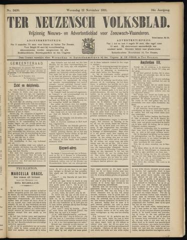 Ter Neuzensch Volksblad. Vrijzinnig nieuws- en advertentieblad voor Zeeuwsch- Vlaanderen / Zeeuwsch Nieuwsblad. Nieuws- en advertentieblad voor Zeeland 1913-11-12