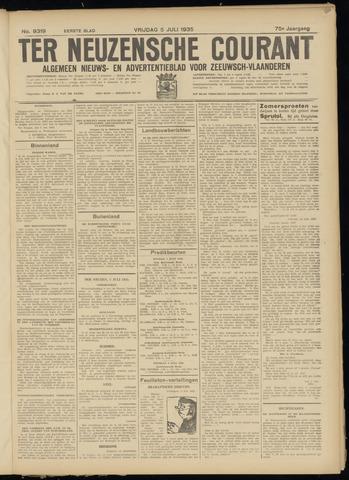 Ter Neuzensche Courant. Algemeen Nieuws- en Advertentieblad voor Zeeuwsch-Vlaanderen / Neuzensche Courant ... (idem) / (Algemeen) nieuws en advertentieblad voor Zeeuwsch-Vlaanderen 1935-07-05