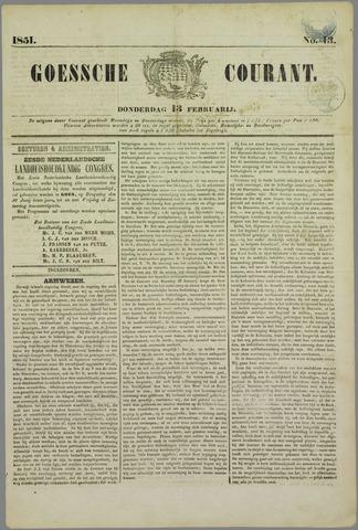 Goessche Courant 1851-02-13