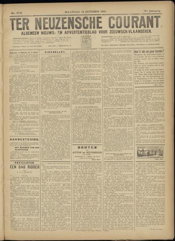 Ter Neuzensche Courant. Algemeen Nieuws- en Advertentieblad voor Zeeuwsch-Vlaanderen / Neuzensche Courant ... (idem) / (Algemeen) nieuws en advertentieblad voor Zeeuwsch-Vlaanderen 1931-10-12