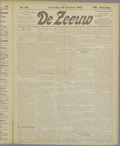 De Zeeuw. Christelijk-historisch nieuwsblad voor Zeeland 1915-10-23