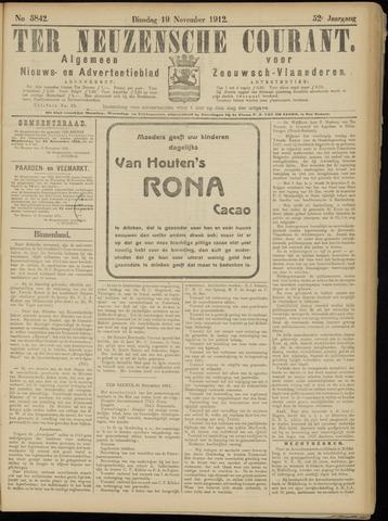 Ter Neuzensche Courant. Algemeen Nieuws- en Advertentieblad voor Zeeuwsch-Vlaanderen / Neuzensche Courant ... (idem) / (Algemeen) nieuws en advertentieblad voor Zeeuwsch-Vlaanderen 1912-11-19