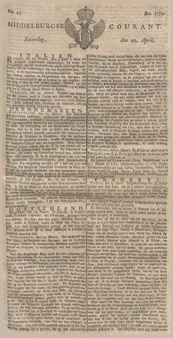 Middelburgsche Courant 1779-04-10