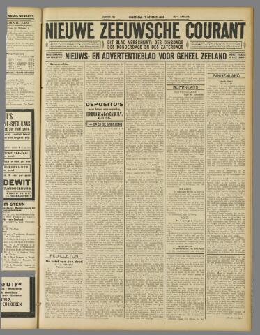Nieuwe Zeeuwsche Courant 1929-10-17