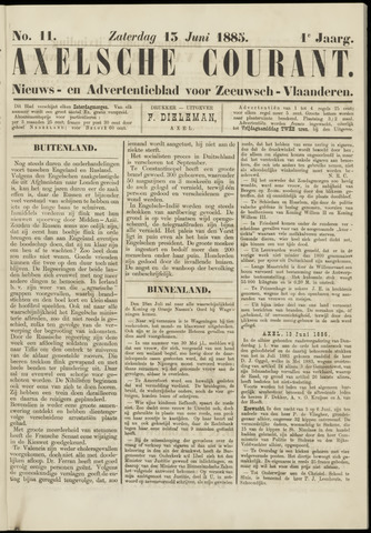 Axelsche Courant 1885-06-13