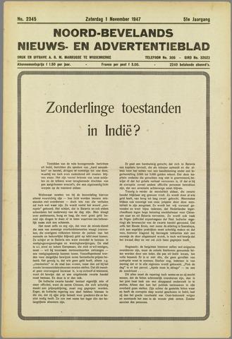 Noord-Bevelands Nieuws- en advertentieblad 1947-11-01
