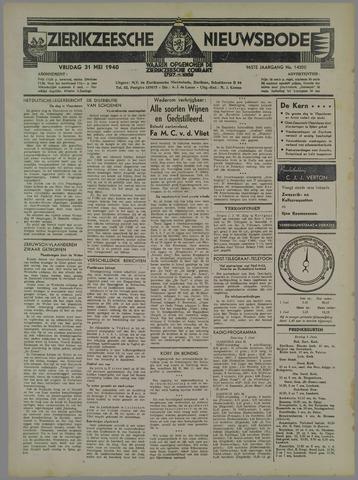 Zierikzeesche Nieuwsbode 1940-05-31