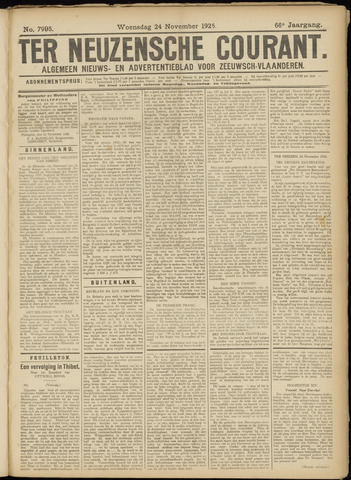 Ter Neuzensche Courant. Algemeen Nieuws- en Advertentieblad voor Zeeuwsch-Vlaanderen / Neuzensche Courant ... (idem) / (Algemeen) nieuws en advertentieblad voor Zeeuwsch-Vlaanderen 1926-11-24