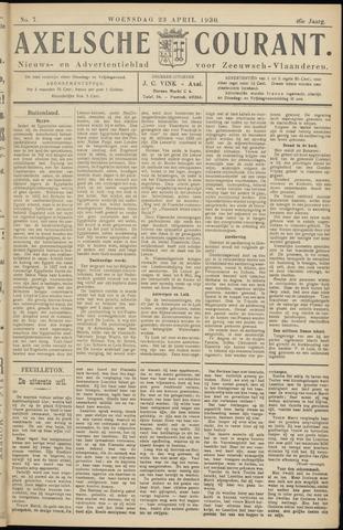 Axelsche Courant 1930-04-23