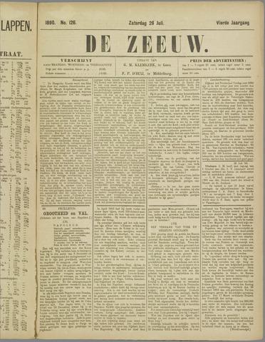 De Zeeuw. Christelijk-historisch nieuwsblad voor Zeeland 1890-07-26