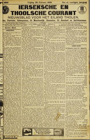 Ierseksche en Thoolsche Courant 1929-02-22